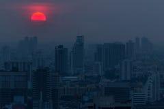 De donkerblauwe schemering van Bangkok Royalty-vrije Stock Foto
