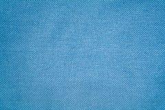 De donkerblauwe stof van de textuur Stock Fotografie