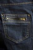 De donkerblauwe zak van het jeanspit Royalty-vrije Stock Fotografie