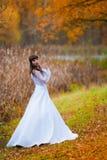 De donkerbruine achtergrond van de bruidherfst Royalty-vrije Stock Foto's