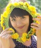 De donkerbruine close-up van de zomer Royalty-vrije Stock Foto's
