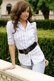 De donkerbruine mannequin van de tiener Royalty-vrije Stock Foto