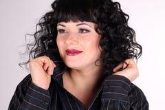 De donkerbruine vrouw van Ñurly Royalty-vrije Stock Foto