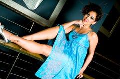 De donkerbruine Vrouw van de Mannequin Stock Foto