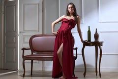 De donkerbruine vrouw van de schoonheid Royalty-vrije Stock Afbeeldingen