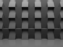 De donkere Abstracte Achtergrond van de Architectuurmuur Stock Foto's