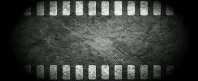 De donkere abstracte achtergrond van de grungefilmstrip Stock Afbeelding