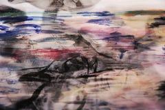 De donkere abstracte achtergrond van de pastelkleurwaterverf Royalty-vrije Stock Afbeeldingen