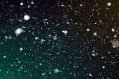 De donkere abstracte achtergrond van het sneeuwstof Stock Afbeeldingen