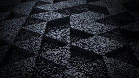 De donkere Abstracte 3D Illustratie van de Achtergrondpixelkunst Stock Foto