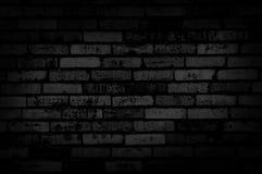 De donkere achtergrond van de grungemuur Stock Foto's