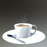De Donkere achtergrond van de koffiekop. Royalty-vrije Stock Foto's