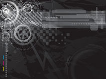 De donkere achtergrond van de Technologie Stock Afbeeldingen