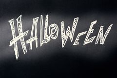 De donkere achtergrond van Halloween Stock Foto