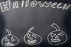 De donkere achtergrond van Halloween Royalty-vrije Stock Afbeeldingen