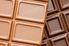De donkere achtergrond van het chocoladeblok Royalty-vrije Stock Fotografie
