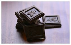 De donkere achtergrond van het chocoladekader Royalty-vrije Stock Afbeeldingen