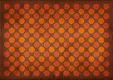 De donkere achtergrond van het cirkels retro patroon vector illustratie