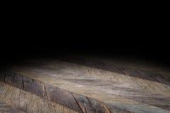 De donkere achtergrond van het de textuurperspectief van de Plank houten vloer voor vertoning Royalty-vrije Stock Afbeeldingen