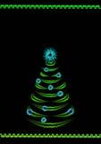De donkere achtergrond van Kerstmis voor een affiche Royalty-vrije Stock Fotografie