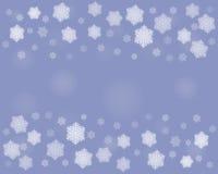 De donkere achtergrond van Kerstmissneeuwvlokken Stock Fotografie