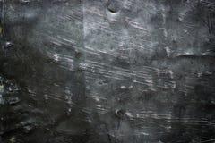 De donkere achtergrond van de staalplaat, zwarte verfrommelde metaaltextuur Stock Afbeeldingen