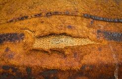 De donkere Antieke Oude Achtergrond van het Leer Grote textuurdetails Stock Foto
