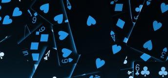 De donkere Banner van Blackjackkaarten Stock Foto's