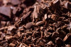 De donkere Brokken van de Chocolade Stock Foto
