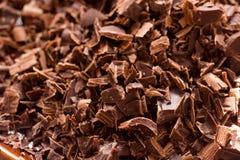 De donkere Brokken van de Chocolade Royalty-vrije Stock Afbeeldingen
