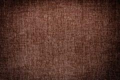 De donkere bruine achtergrond van de canvastextuur Stock Afbeelding