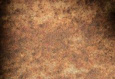 De donkere bruine achtergrond van de roesttextuur Stock Foto's