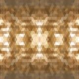 De donkere bruine achtergrond van het driehoeksmozaïek Creatieve geometrische illustratie in Origamistijl met gradiënt Het malpla Stock Foto's