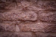 De donkere bruine achtergrond van steenbakstenen Royalty-vrije Stock Afbeeldingen
