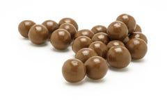 De donkere bruine ballen van de Chocolade Royalty-vrije Stock Afbeelding