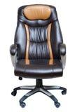 De donkere bruine leunstoel van het bureau Royalty-vrije Stock Fotografie