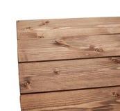 De donkere bruine verf bedekte houten raad met een laag Royalty-vrije Stock Foto's