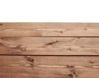 De donkere bruine verf bedekte houten raad met een laag Stock Fotografie