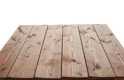 De donkere bruine verf bedekte houten raad met een laag Stock Afbeeldingen