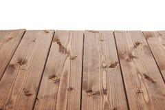 De donkere bruine verf bedekte houten raad met een laag Royalty-vrije Stock Fotografie