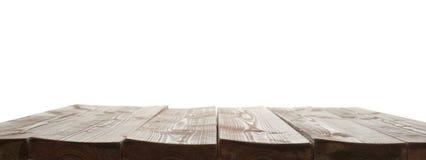 De donkere bruine verf bedekte houten raad met een laag Royalty-vrije Stock Afbeelding