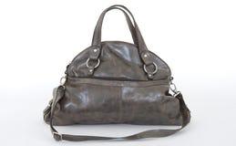 De donkere bruine zak van het Vrouwenleer Royalty-vrije Stock Foto