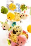 De cake van Pasen knalt Stock Afbeeldingen