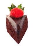 De donkere cake van de chocoladeaardbei Stock Foto's