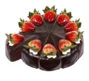 De donkere cake van de chocoladeaardbei Royalty-vrije Stock Afbeelding