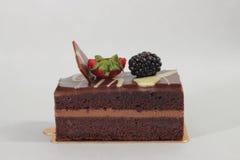 De donkere cake van de chocoladeaardbei Royalty-vrije Stock Foto