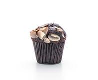 de donkere cake van de chocoladekop Stock Afbeeldingen