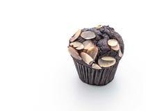 de donkere cake van de chocoladekop Royalty-vrije Stock Afbeeldingen
