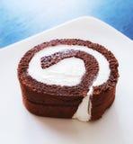 De donkere cake van het chocoladebroodje Royalty-vrije Stock Afbeelding