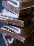 De donkere chocolade, sluit omhoog Stock Foto's